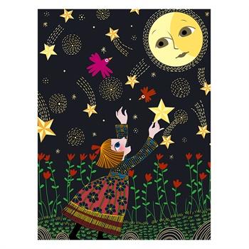 joan miro 美乐 梦幻创意刮刮画-星空与月亮 儿童刮画