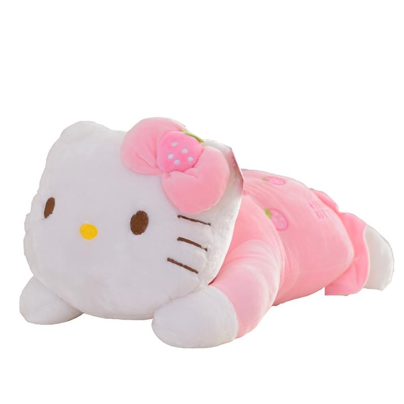 hello kitty凯蒂猫公仔 趴式水果kt猫毛绒玩具大号布娃娃圣诞节礼物