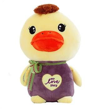 可爱 毛绒玩具 绣心鸭 鸭子公仔 布娃娃 玩偶 生日礼物