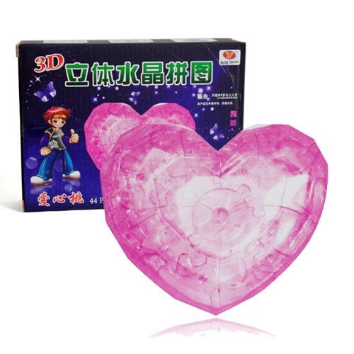玩具水晶立体拼图 熊猫+海豚+水晶鞋+爱心+苹果&nbsp