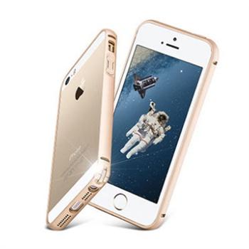 苹果5金属边框卡扣iphone5海马扣手机壳5s新款圆弧