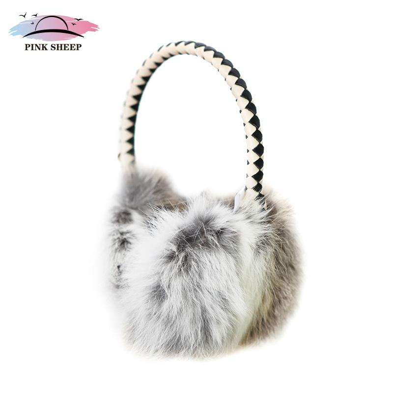 粉色绵羊 2014新款女士日本兔毛耳罩耳套可爱秋冬季天护耳保暖_波波