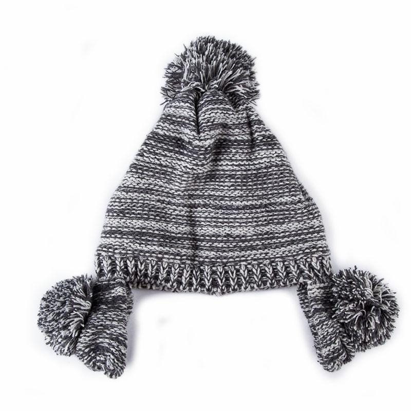 男女宝宝毛线编织帽护耳
