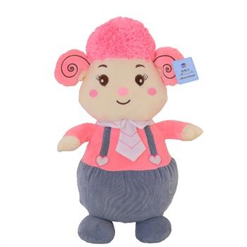 领结羊公仔羊年吉祥物可爱羊大号布娃娃玩偶生日礼物