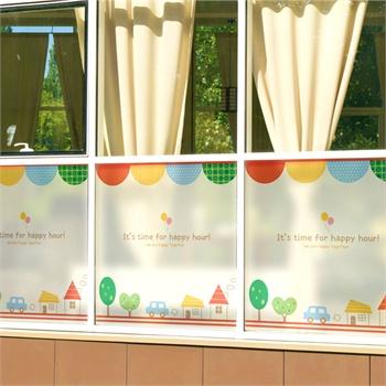 儿童房卧室幼儿园母婴店移门医落地窗隔断防撞装饰 透光不透明防晒