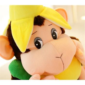 香蕉猴子 可爱毛绒玩具 创意娃娃抱枕