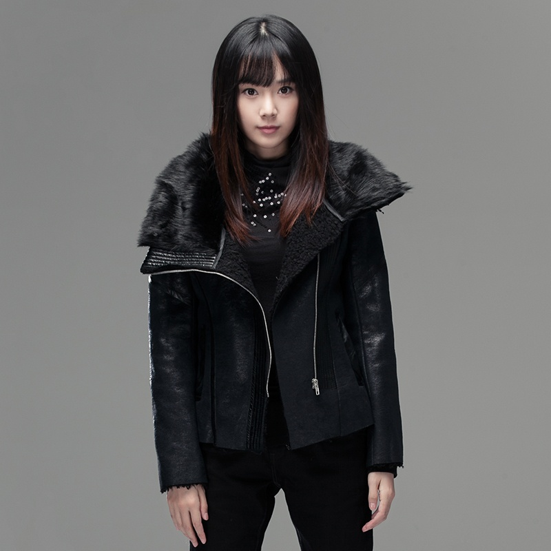 sdeer圣迪奧專柜正品女裝冬裝設計感斜襟女式上衣3482204_黑色/91,m(1