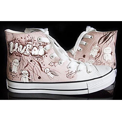 创意手绘帆布鞋 时尚涂鸦帆布鞋