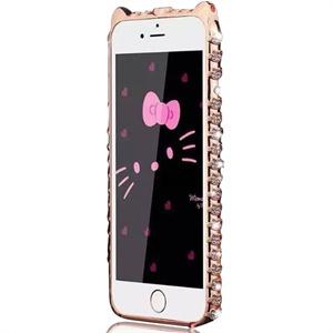 iphone6猫猫边框蛇钻 手工diy贴钻