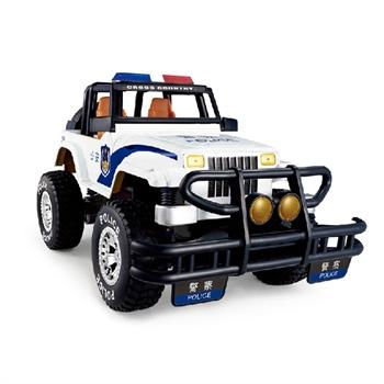 美嘉欣 遥控警车 mjx遥控车充电越野车 吉普车 儿童玩具汽车 男孩玩具