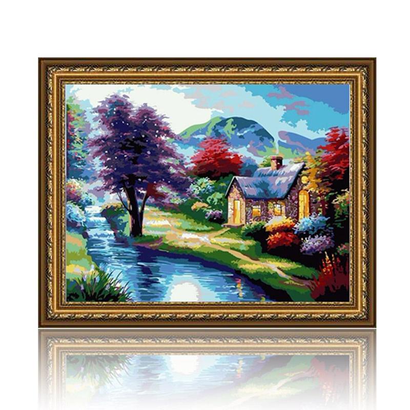 舞动色彩 梦境 diy数字油画风景彩绘装饰画
