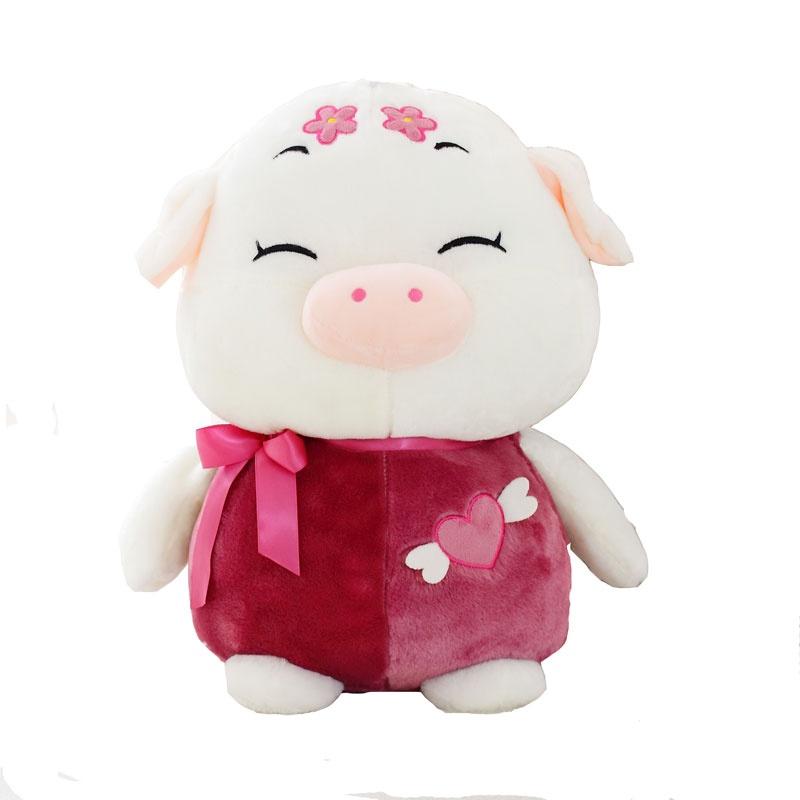 可爱 梅花猪 毛绒玩具 猪公仔 布娃娃 玩偶 生日礼物