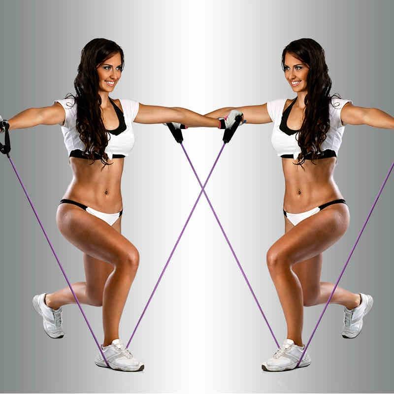 拉力绳 健身女士男士弹力绳健身绳皮筋拉力绳弹力拉力带力量训练