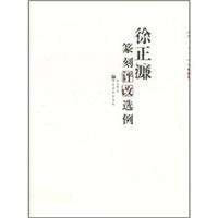 《徐正濂篆刻评改选例》封面