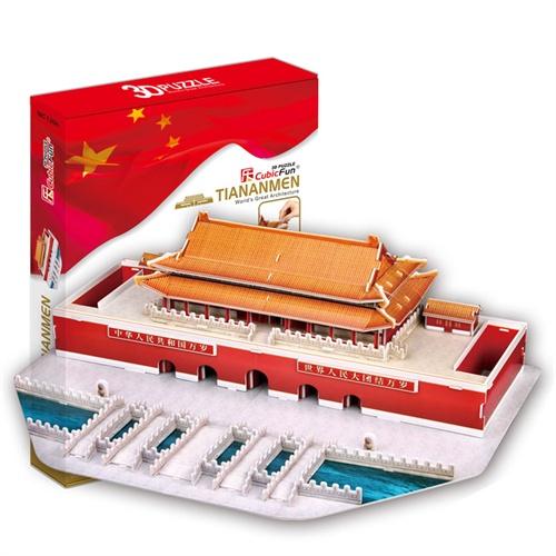 乐立方3d立体拼图建筑纸模型北京天安门mc126h