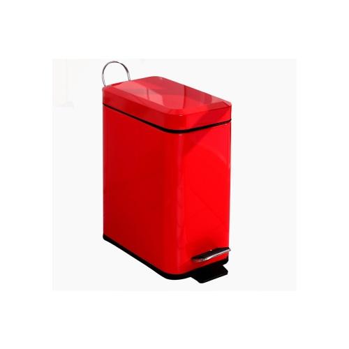 [当当自营]欧润哲5升长方形垃圾桶红色