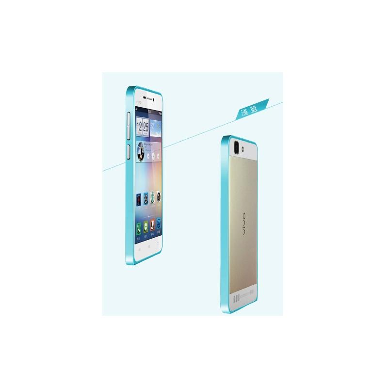 x3手机壳 步步高vivo x3t超薄金属边框 vivo x3sw手机保护套_浅蓝色