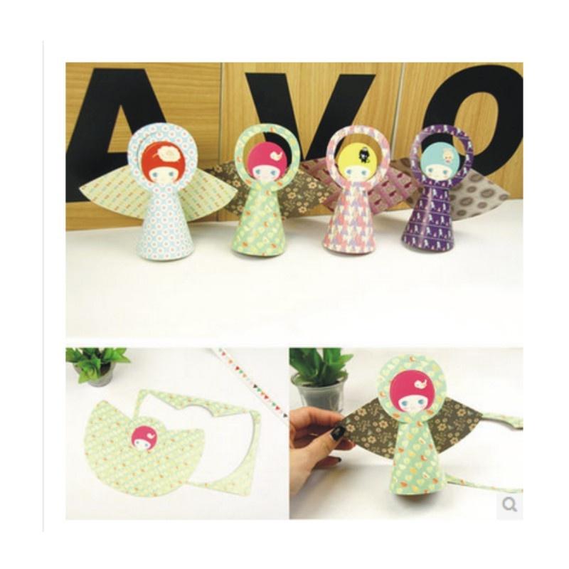 陆捌壹肆 bentoy 可爱娃娃造型diy吊卡片 卡通天使贺卡创意礼品派对装
