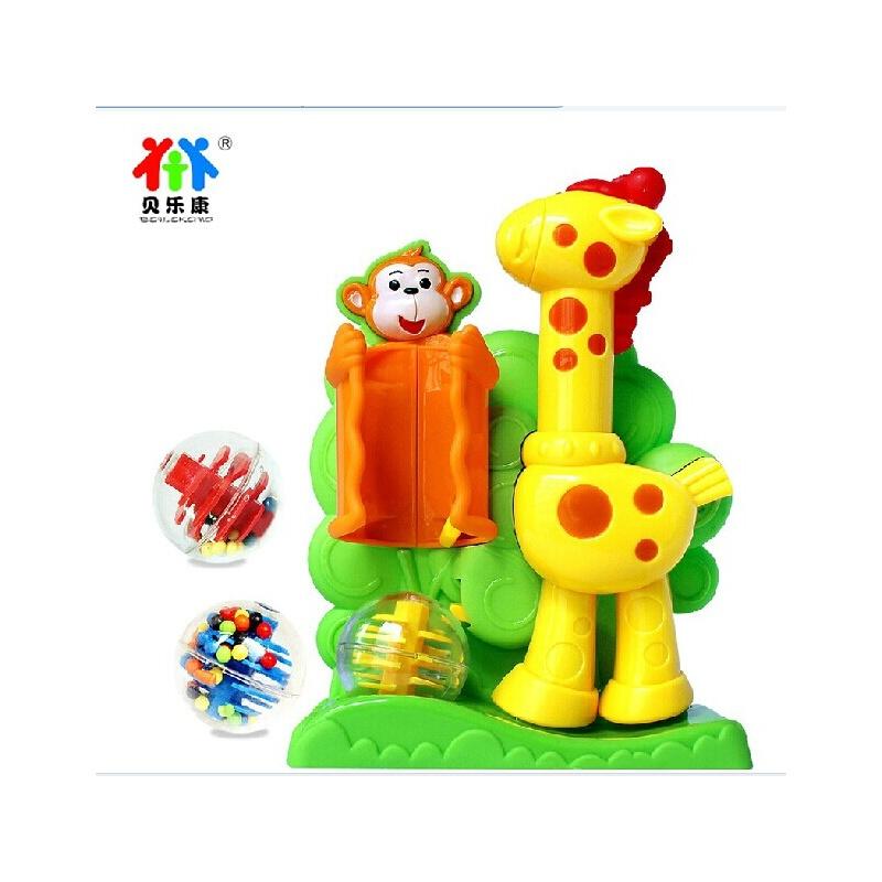 贝乐康会踢球长颈鹿亲子玩具可爱卡通造型婴幼儿童益智玩具0-1岁