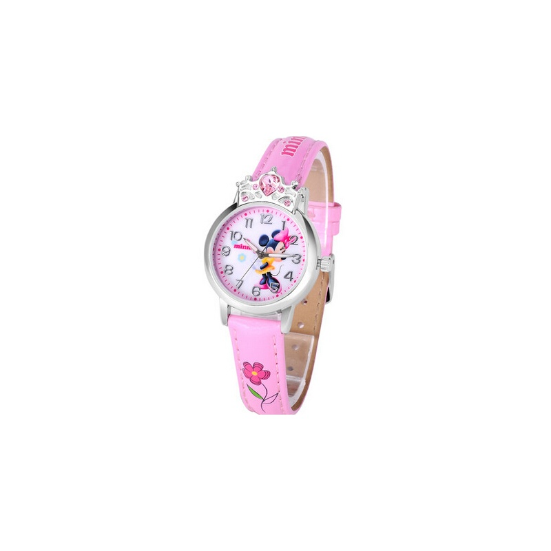 新款时尚潮流女孩手表 可爱卡通皮带儿童表