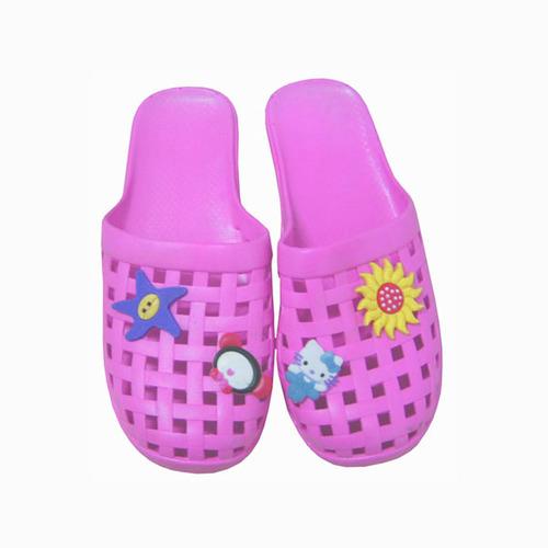 【彩色网格软底拖鞋-粉色37#图片】高清图