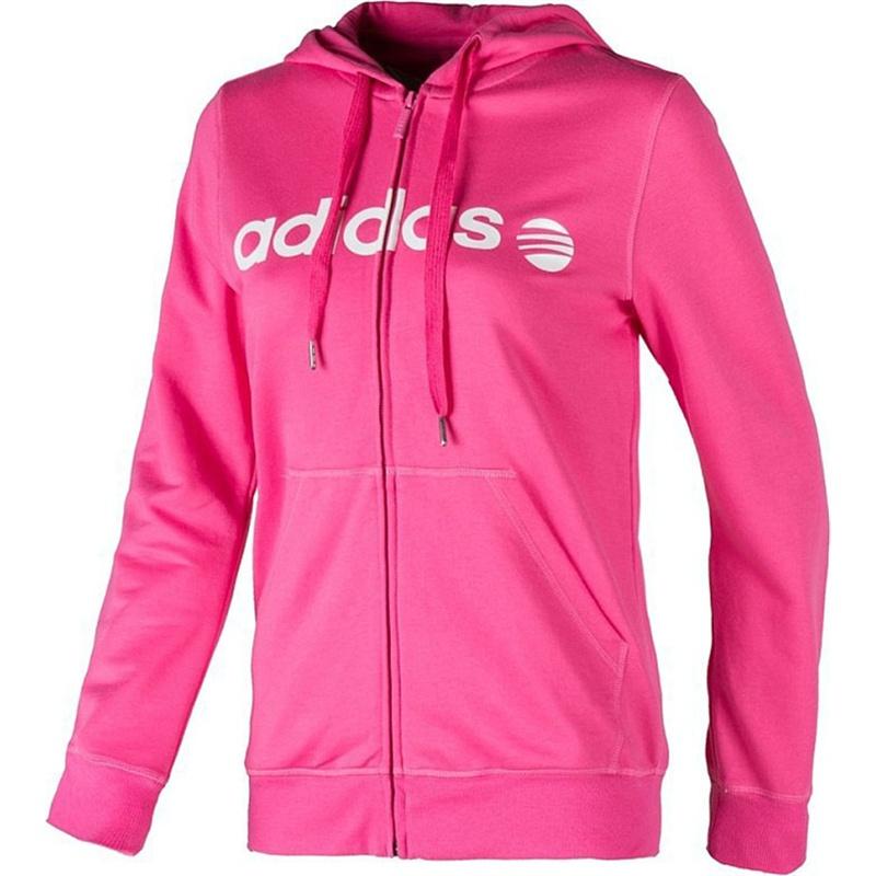 粉色运动卫衣外套