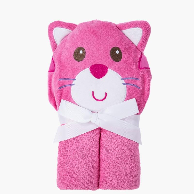 美国熊宝宝婴儿抱被宝宝纯棉动物造型吸水浴巾带帽子包被婴儿抱毯