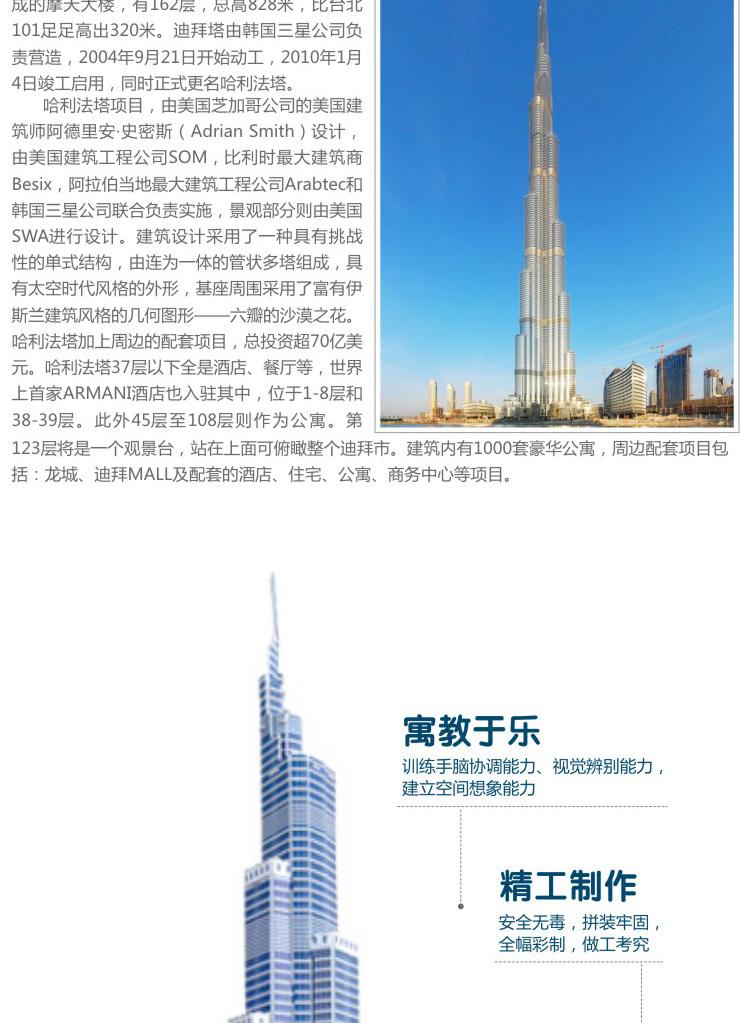 迪拜塔模型高清大图
