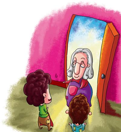 阅读手绘插画 小学