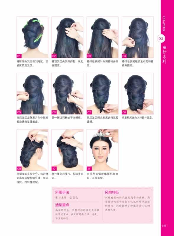 《当日新娘发型设计实例教程》温狄编