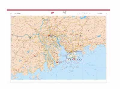 地图集(全彩页铜版纸印刷,内容精心编制,信息丰富,政区,地形,城市地图