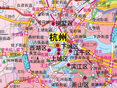 1:70万浙江省地图