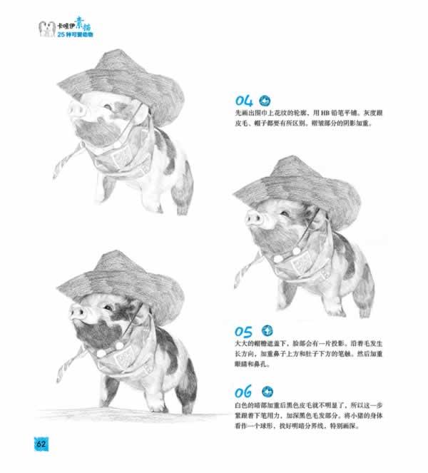 金鱼的素描画法步骤图片