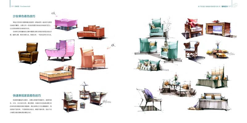 从手绘设计基础到考研系列丛书:室内设计