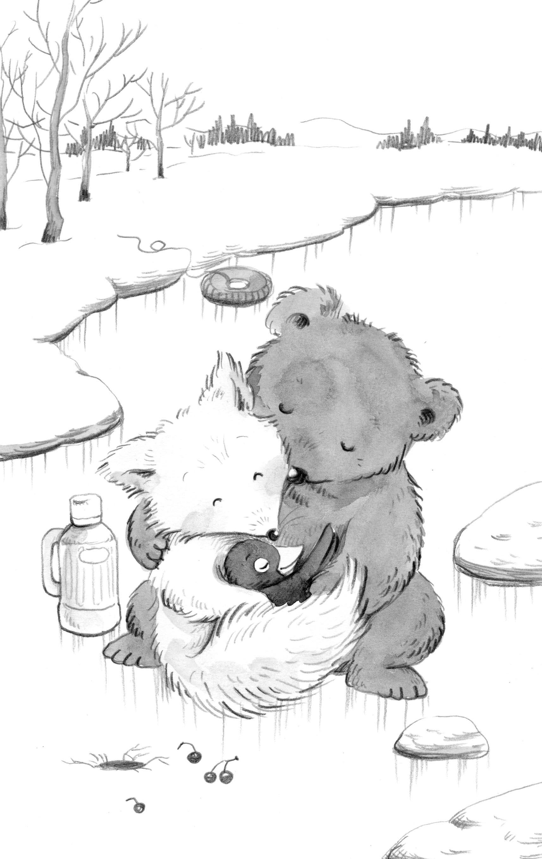 小熊的脚印怎么画简笔画