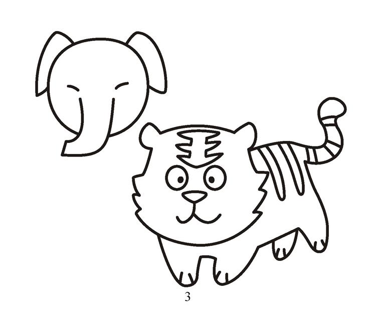 宝宝爱画画---可爱动物