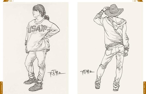 线性手绘插画图片