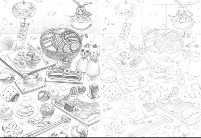 Part 1 素描的画前准备  素描工具介绍  绘图铅笔  自动铅笔、自动铅笔芯  辅助材料介绍  素描纸张  橡皮  纸笔  转笔刀、画架、美工刀、画具箱、画夹  Part 2 素描表现技法  基础图形的画法  圆的画法  正方体的画法  圆柱的画法  体积与光影  圆球的光影  正方体的光影  圆柱的光影  不同握笔姿势带来的不同笔触  素描的各种线条画法  素描在不同纸上的效果  Part 3 开始画素描啦!  水果家族  覆盆子  石榴  其他水果  新鲜蔬菜  香菇  小黄瓜  小红辣椒  其他