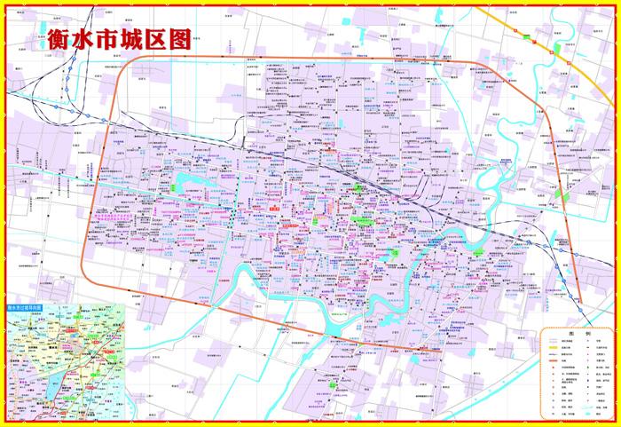 河北省衡水city城市地图