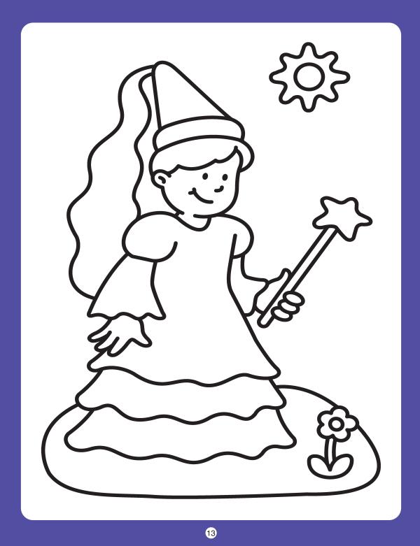 小班简笔画初级涂色-数学 幼儿园小班上学期