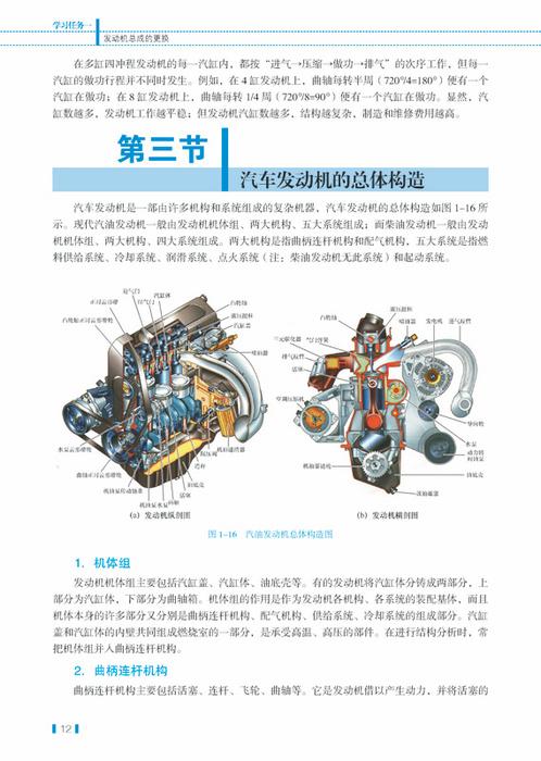 汽车发动机的总体构造  四.汽车发动机的主要性能指标与特性  五.