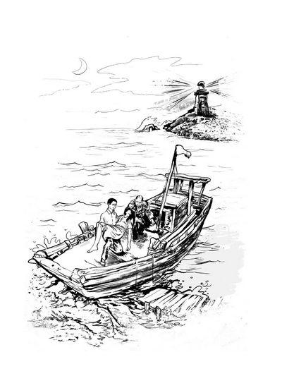 英语海报游泳手绘