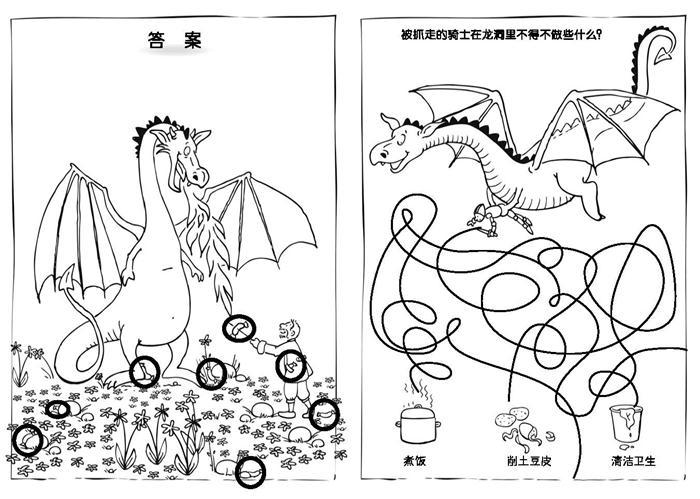 中国飞龙 简笔画