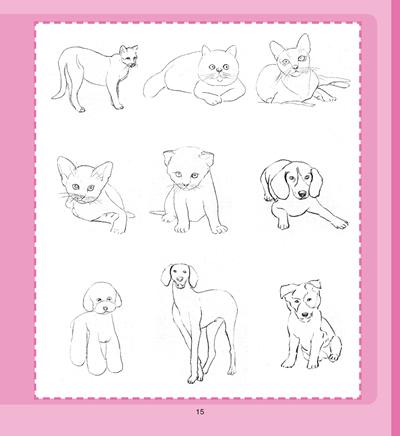 一日一画·素描——可爱动物-图书杂志-艺术-艺术