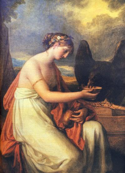 每幅绘画作品所表现的古希腊罗马神话中的故事情节