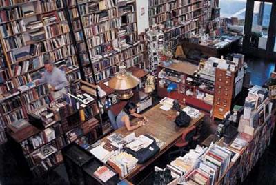 书店室内展示手绘图