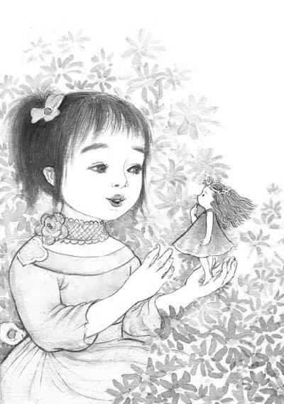 可爱小松鼠简笔画整片森林