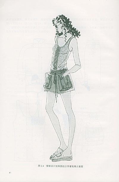 丝绸服装设计手绘