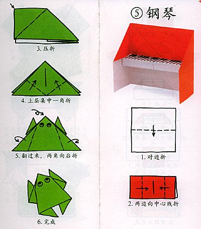 折纸青蛙 的步骤图解