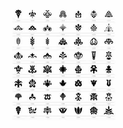黑白图形创意; 黑白图形图标速查手册-8710个矢量图案随书附赠光盘
